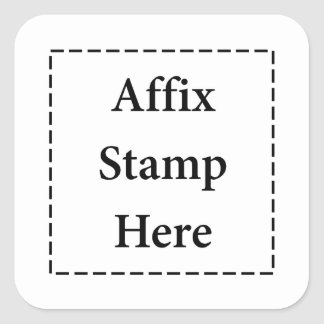Affix Stamp Here Stickers