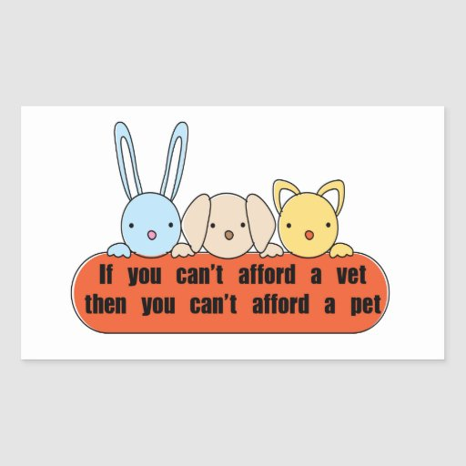 Afford Vet Afford Pet Rectangle Sticker