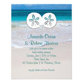 Affordable Beach Wedding Sand Dollar Invitations 11.5 Cm X 14 Cm Flyer