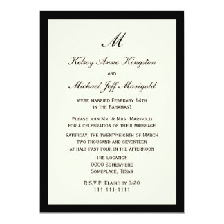 Affordable Cheap Post Wedding Reception Cream 13 Cm X 18 Cm Invitation Card