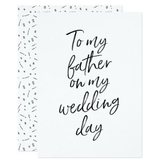 Affordable To my father on my wedding day Card