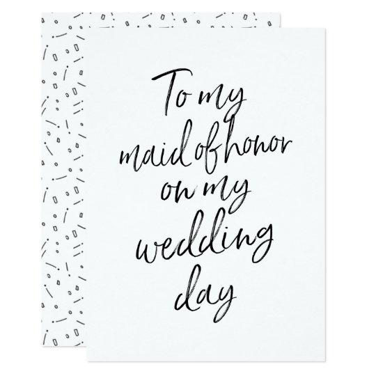 Affordable To my maid of honor on my