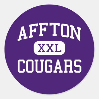 Affton - Cougars - High - Saint Louis Missouri Classic Round Sticker