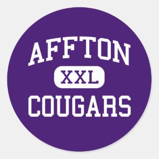 Affton - Cougars - High - Saint Louis Missouri Round Sticker