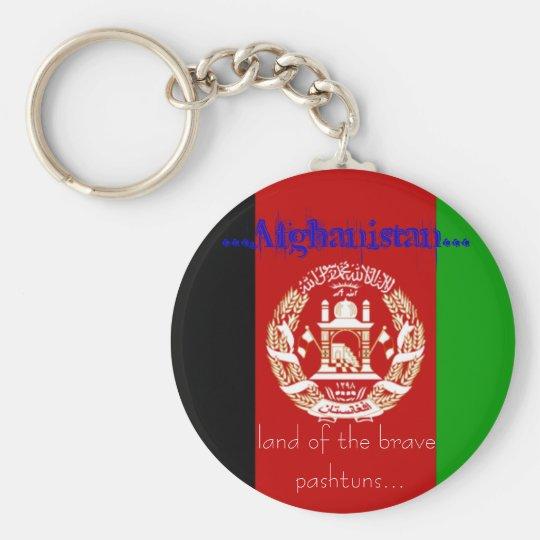 afg flag basic round button key ring