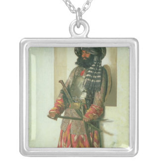Afghan, 1870 silver plated necklace