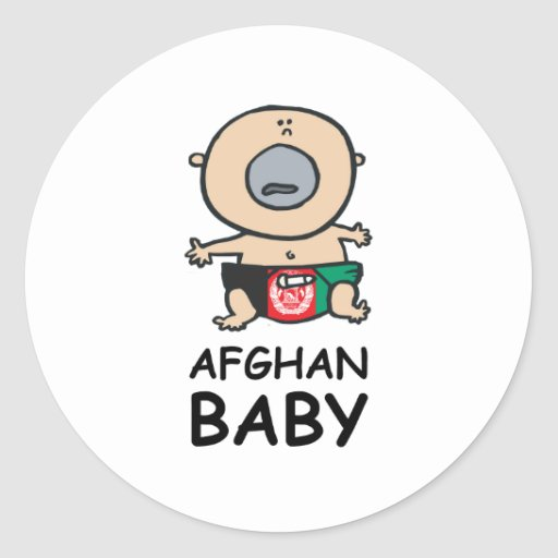 Afghan Baby Stickers