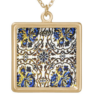 Afghan Bedcover Gold Plated Necklace