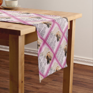 Afghan Designed  -  Mum  Poem Short Table Runner