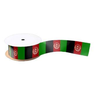 Afghan flag ribbon satin ribbon