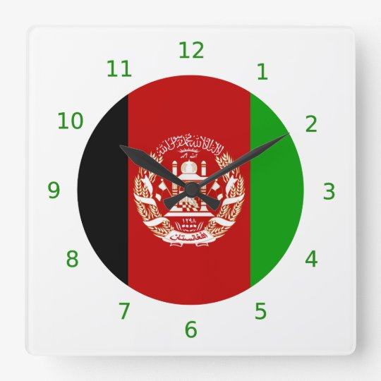 Afghan flag Wall Clock