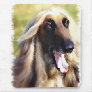 Afghan Hound Art Gifts Mouse Pad