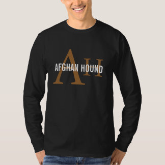 Afghan Hound Breed Monogram T-Shirt
