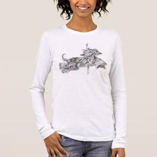 Afghan Hound Carousel Jump Long Sleeve T-Shirt