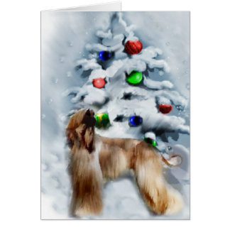 Afghan Hound Christmas Gifts Card