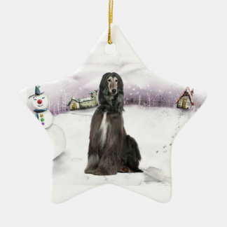 Afghan Hound Christmas ornament