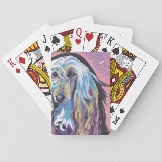 Afghan Hound colorful pop dog art Playing Cards