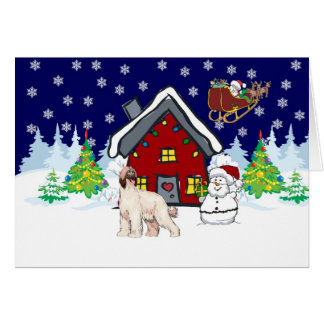 Afghan Hound Country Christmas Card