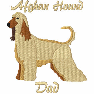 Afghan Hound Dad Embroidered Shirt (Hoodie)