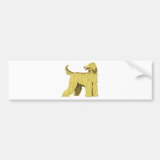 Afghan Hound Dog Bumper Sticker