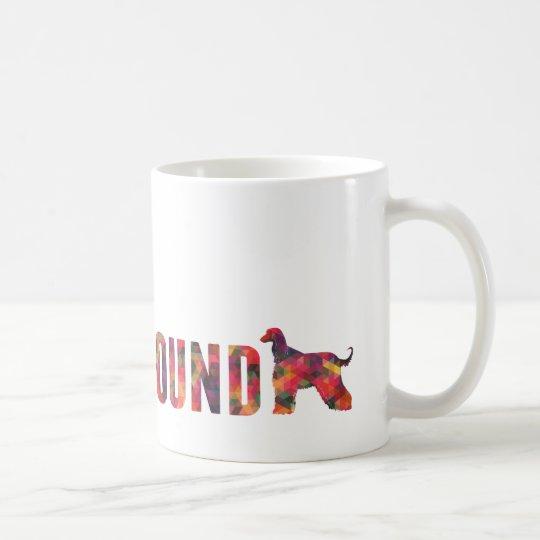 Afghan Hound Dog Colourful Graphic Multi Mug