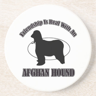 afghan hound DOG DESIGNS Drink Coaster