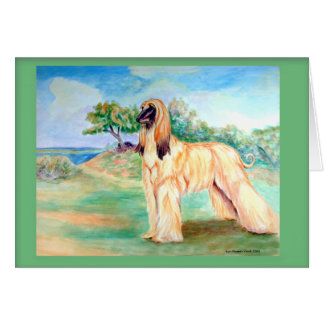 Afghan Hound Greeting Cards