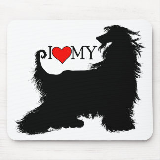 Afghan Hound I Love (heart) my Mouse Mat