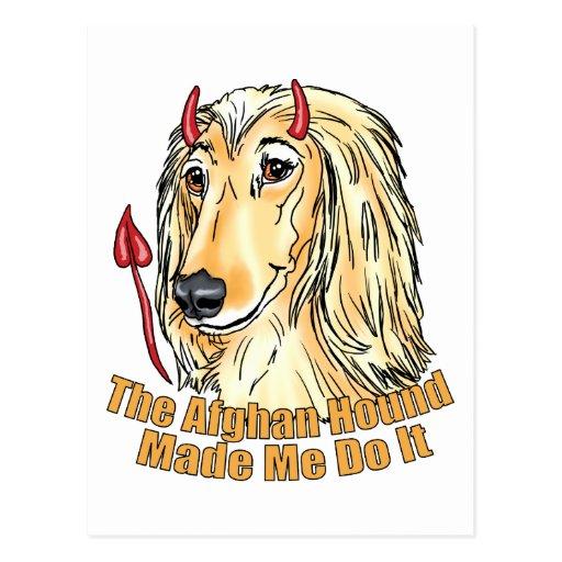Afghan Hound Made Me Do It Postcard