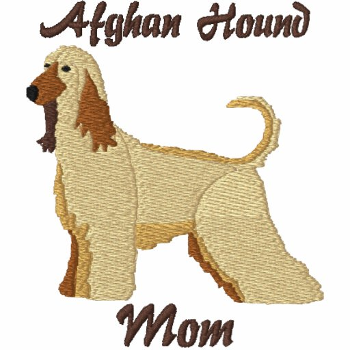 Afghan Hound Mom Embroidered Shirt (Hoodie)