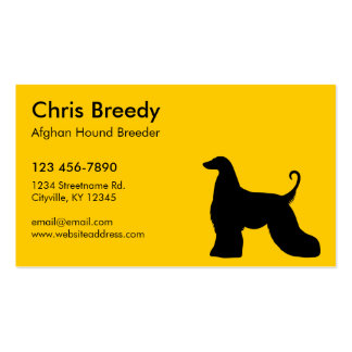 Afghan Hound Pack Of Standard Business Cards