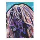 Afghan Hound Pop Dog art Postcard