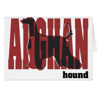 Afghan Hound Silhouette Card