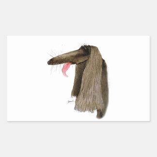 Afghan Hound, tony fernandes Rectangular Sticker