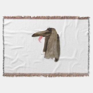 afghan hound, tony fernandes throw blanket