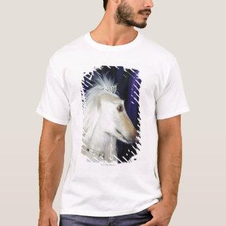 Afghan Hound wearing Tiara T-Shirt