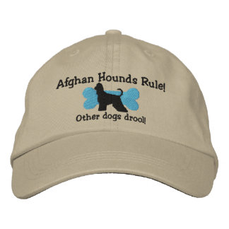 Afghan Hounds Rule Embroidered Hat