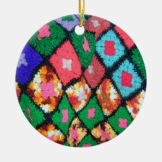 Afghan Jewel Round Ceramic Decoration