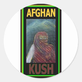 AFGHAN KUSH CLASSIC ROUND STICKER