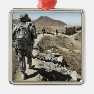 Afghan National Army and US soldiers Christmas Ornament