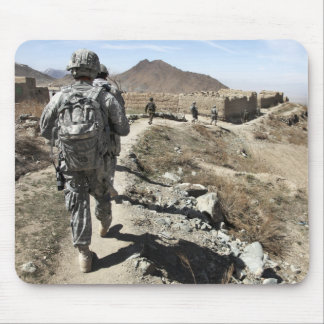 Afghan National Army and US soldiers Mouse Pad