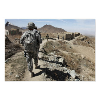 Afghan National Army and US soldiers Posters