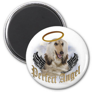 Afghan  perfect angel 6 cm round magnet