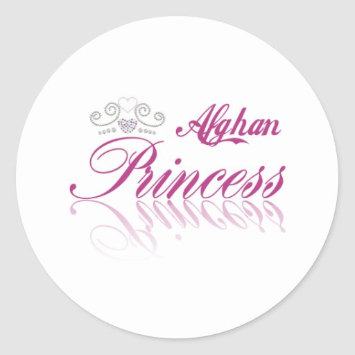 Afghan Princess Round Stickers