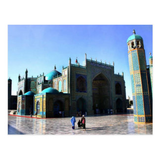 afghani blue mosque postcard