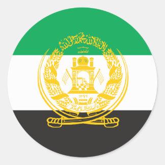 Afghanistan 1992 Flag Round Sticker
