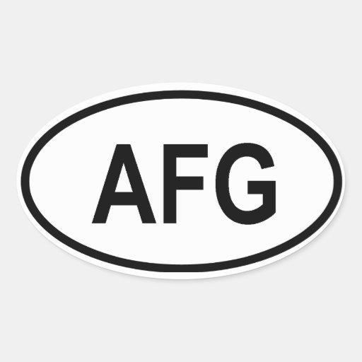 """Afghanistan """"AFG"""" Sticker"""
