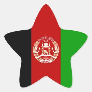 Afghanistan/Afghan/Afghani Flag Star Sticker