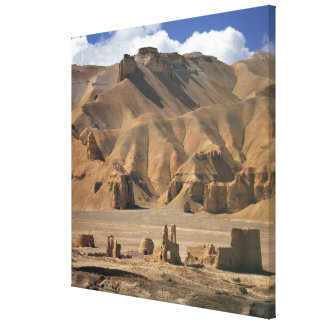 Afghanistan, Bamian Valley. Ancient earthen Canvas Print