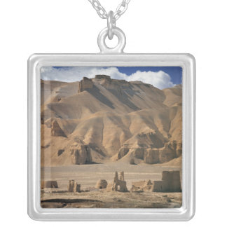 Afghanistan, Bamian Valley. Ancient earthen Silver Plated Necklace